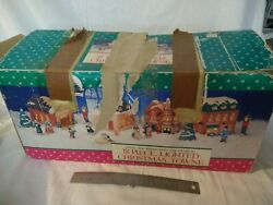 Vintage 1991collectorand039s Edition Lighted Christmas Town Village Holiday Classics