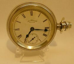 Antique Waltham Large Pocket Watch In 4 Oz Coin Silver Case -best Offer