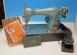 Vintage Rodney Brother Deluxe Green Precision Sewing Machine Andaccessories Japan
