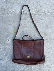Vintage Leather Attorneys Briefcase. Thick Leather In Excellent Condition.