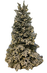 Balsam Hill Frosted Fraser Fir Narrow 5.5' Candlelight Led These Trees Flake
