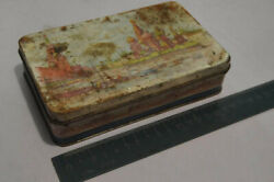 Wonderful Vintage Tin Metal Box Moscow Sweet Small Russian Candy Building Moscow