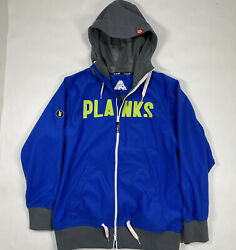Planks Snowboarding Jacket Spellout Full Zip Size Large Ride In Edition