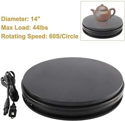 110v 14electric Motorized Rotating Display Stand Turntable Base For Photography