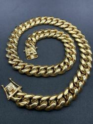 Gold Thick 24 18 Miami Chain 316l Stainless Steel Kihei