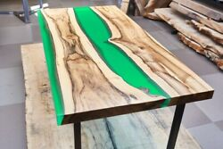 Epoxy Table Resin Dining Table Top Live Edge River Table Natural Wood Furniture