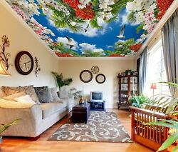 3d Red Flower Zhu171 Ceiling Wall Paper Wall Print Decal Wall Deco Amy