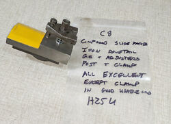 Emco Compact 8 Lathe Compound Slide Parts Dovetail Iron And Post W/ Clamp H25u