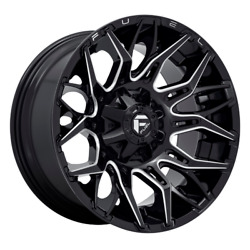 22 Inch Black Wheels Rims Fuel Twitch D769 22x12 Lifted Toyota Tacoma 4runner
