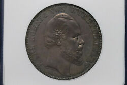 1871 German Empire Wurttemberg Silver 1 Thaler Ngc Ms62 - A173