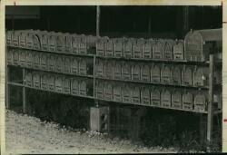 1969 Press Photo Cluster Of Mailboxes On Rural Route - Hcx09418