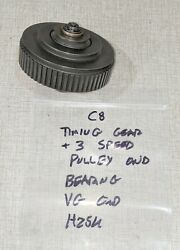 Emco Compact 8 Lathe Timing Gear / 3 Speed Pulley W/ Bearing H25u