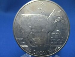 Extreme Beauty Isle Of Man Cat Coin Manx Cat 1988 1 Crown Nickel Coin
