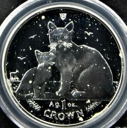 Isle Of Man Cat Silver Coin Burmilla Parent And Child 2008 Cat 1 Crown Sterling