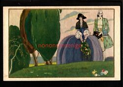 Art Deco Wealthy Courtier Couple Walk In Nature Easter Eggs Chick Pc 1929 Ad102