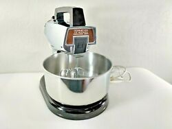 Vintage Dormeyer 10 Speed Deluxe 250 Standing And Hand Held Mixer Tested And Works