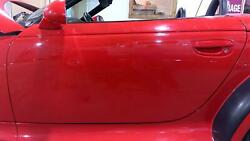 97-02 Plymouth Chrysler Prowler Driver Left Door Shell Prowler Red Prd