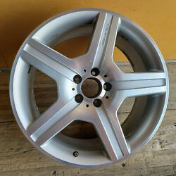 19 Mercedes Factory Oem Amg Wheel S550 S600 A2214012702 Silver Machined Rear