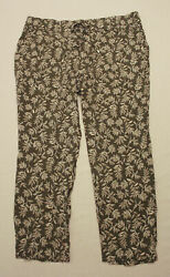 Old Navy Womenand039s Drawstring Stretchy Floral Lounge Pants Jb1 Green Large Nwt