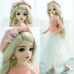 1/3 Bjd Doll Girls Gift 60cm Sd Doll Free Eyes Wigs Dress Hats Shoes Full Outfit