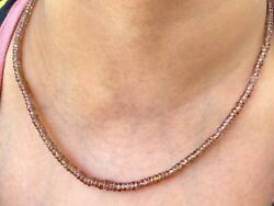 70 Ct Garnet Beads Necklace For Women 3 Mm To 4.5 Mm Red Beads Necklace 18 Inch