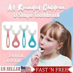 Baby Toothbrush U shaped Silicone Brush Head Cleaning Teeth for Kids 2 12 Year J $5.66