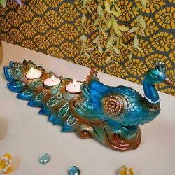 Beautiful Peacock Table Tea Light Candle Holder For Drawing Room Decoration