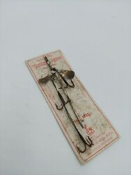 Vintage Fishing Lure On Card S. Allcock And Co England Standard Spinner Pike