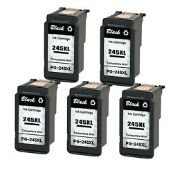 5pk Pg-245xl Remanufactured Ink Cartridge For Canon Pixma Ts3322 Mg2920 Mg2922