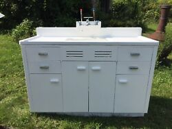 Antique Farmhouse Sink With Base Cabinet And Drawers