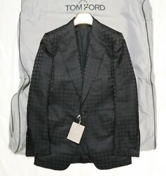 New With Tag 3.072€ Tom Ford Wool Silk Patterned Jacquard Cocktail Jacket