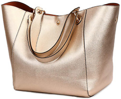 Tote Handbags for Women Faux Leather Hobo Bags Large Bucket Travel Purse $46.33