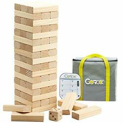Giant Tumble Tower, Stacking Timber With Scoreboard | Dice | Carrying Bag, 56
