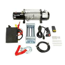 Classic 12v 9500lbs Electric Recovery Winch Truck Suv Wireless Remote Control Us