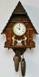 Vintage Black Forest Weight Driven Automation 8 Day Musical Ting Tang Wall Clock