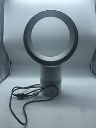 Dyson Air Multiplier Am06 Table Fan, 10 Inches, White/silver Pre-owned
