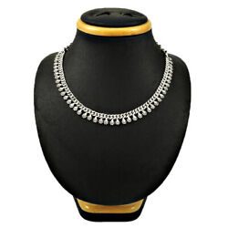 Handmade Indian Jewelry 925 Solid Sterling Silver Necklace G48