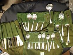 Spring Glory By International Sterling Silver Flatware Service 6 Set 30 Pieces