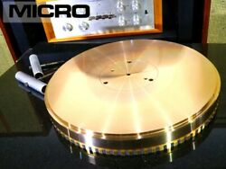 Micro Bl-101g Gunmetal Turntable Rare From Japan [rank A]
