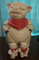 Shawnee Smiley The Pig Cookie Jar With Salt And Pepper Shakers Stamped Usa