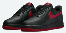 Brand New Air Force 1 '07 Black And Red Bred, Multiple Sizes Dc2911-001.