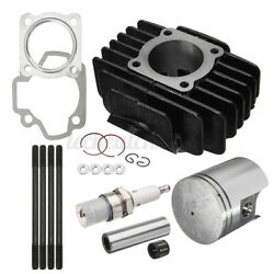 For Yamaha Pw 50 1981-2009 Big Bore Kit Top End Set 60cc Piston Cylinder Rings