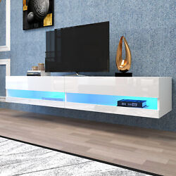 80 Tv Stand 180 Wall Mounted Floating With 20 Color Led Hanging Tv Consoles Us