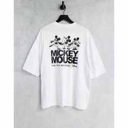 Eysus Asos Design Mens T-shirt Tops Co-ord With Disney Mickey Mouse Gloss