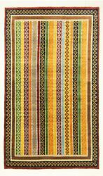 Carpet Morgenland Ziegler Wool Stripes Hand Knotted Modern Living Room Oriental