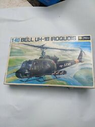 Vintage Fujimi Bell Uh-1n Iroquois 1/48 Scale Model Kit