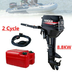 Hangkai 12hp 2 Stroke Outboard Motor Boat Engine W/ Water Cooling System Cdi Hot