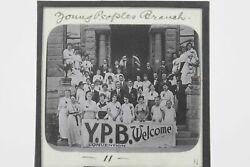 Magic Lantern Vintage Glass Slide Young People Branch Y.p.b. Convention ...
