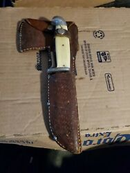 1940s Western Knife Hatchet Combo / Removable Handle - Made In Boulder Colorado