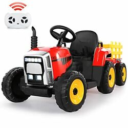 Ride On Tractor 12v 7ah, Kids Electric Tractor With Remote Control, 2+1 Gear Shi